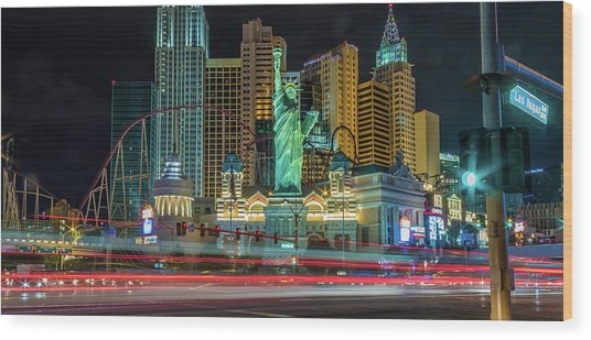 Wood Print featuring the photograph New York New York by Michael Rogers