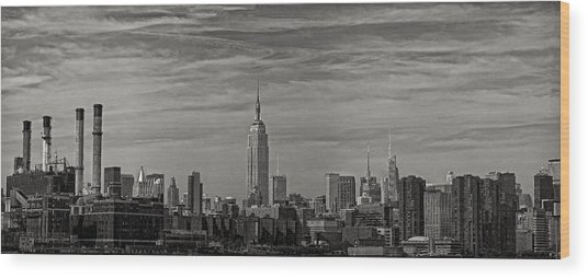New York Skyline Wood Print by Robert Ullmann