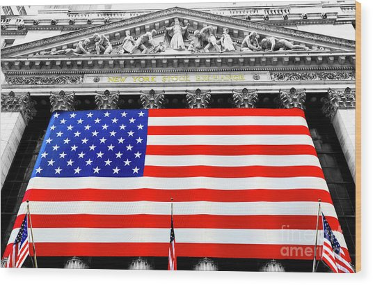 New York Stock Exchange 2006 Wood Print