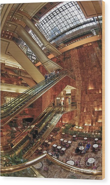 Wood Print featuring the photograph New York Trump Tower  by Juergen Held