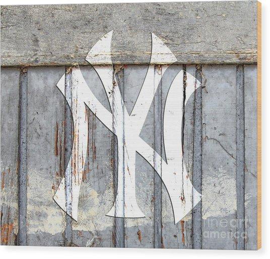 New York Yankees Rustic 2 Wood Print