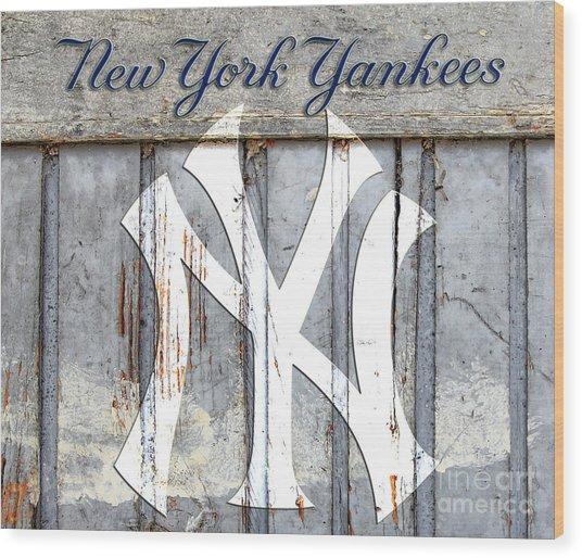New York Yankees Rustic Wood Print