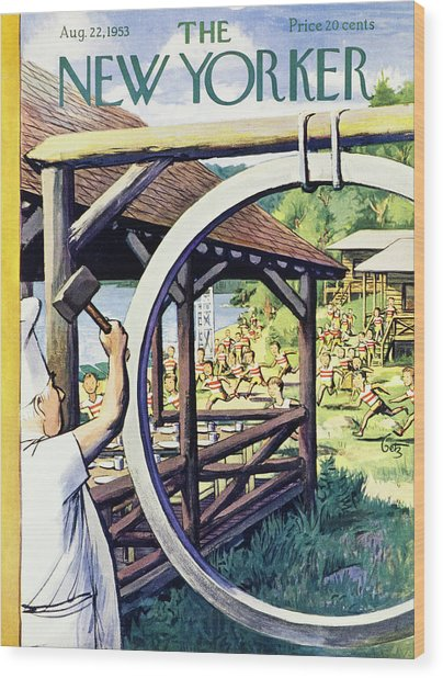 New Yorker August 22 1953 Wood Print