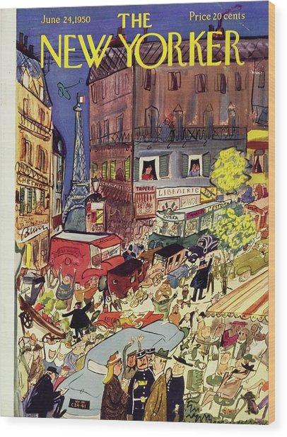 New Yorker June 24 1950 Wood Print