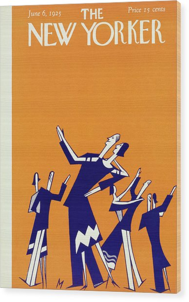 New Yorker Magazine Cover Of Couples Dancing Wood Print