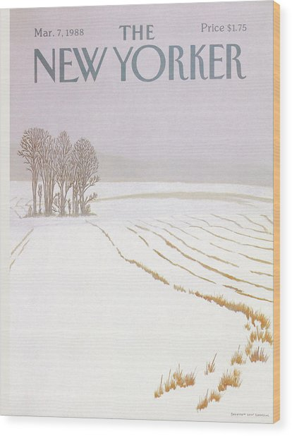 New Yorker March 7 1988 Wood Print