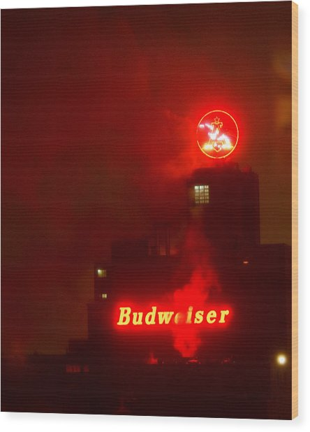 Newark Budweiser Wood Print
