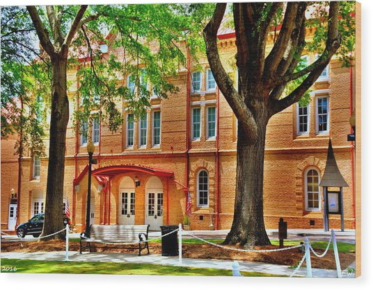 Wood Print featuring the photograph Newberry Opera House Newberry Sc by Lisa Wooten