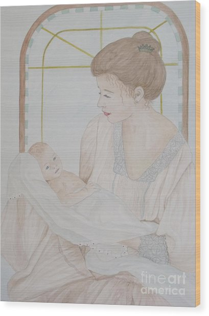 Newborn - Jacqueline Ruby Wood Print