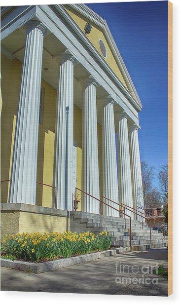 Newburgh Courthouse On Grand Street 2 Wood Print