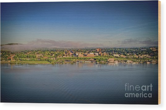 Newburgh, Ny From The Hudson River Wood Print