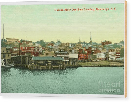 Newburgh Steamers Ferrys And River - 15 Wood Print