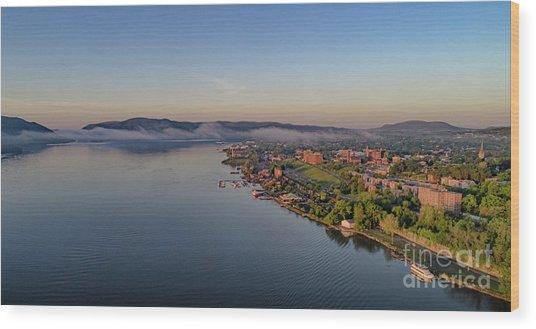 Newburgh Waterfront At Sunrise Wood Print