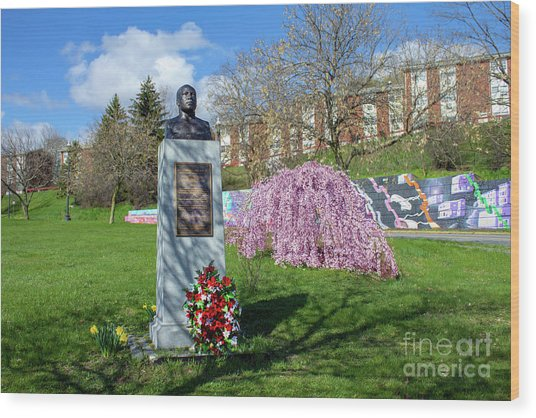 Newburgh's Dr. Martin Luther King Memorial Wood Print