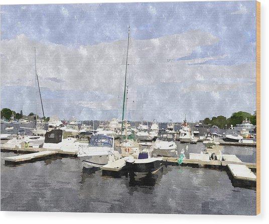 Newburyport Harbor Nhwc Wood Print