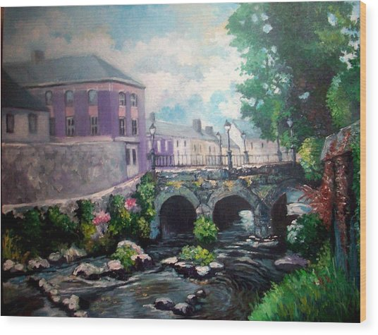 Newcastle West Co Limerick Wood Print