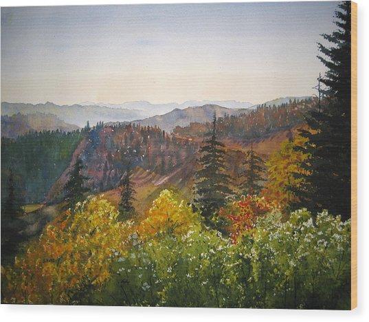 Newfound Gap Wood Print