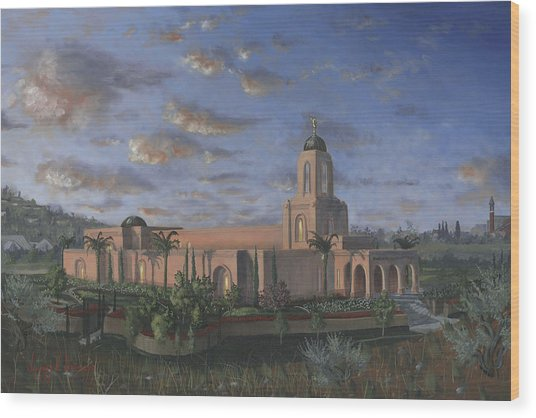 Newport Beach Temple Wood Print