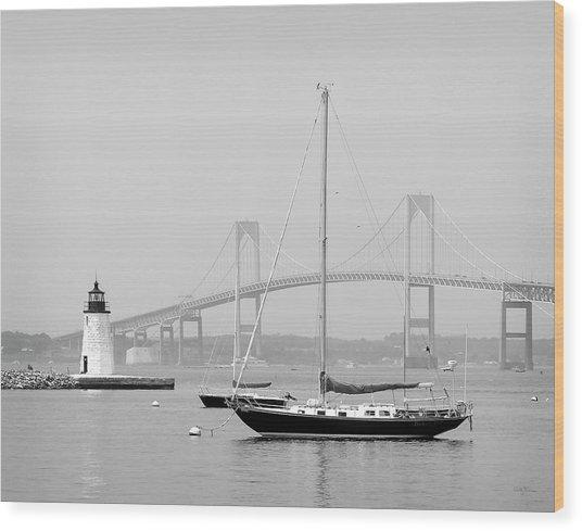 Newport, Rhode Island Serene Harbor Scene Wood Print