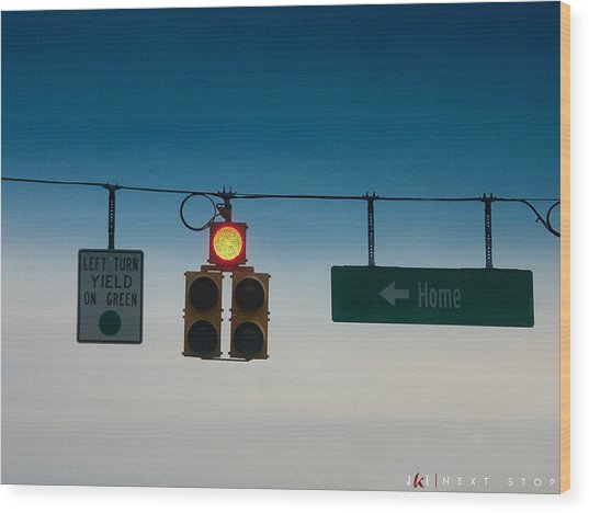 Next Stop Wood Print by Jonathan Ellis Keys