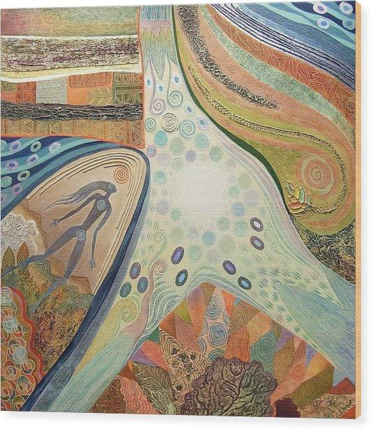 Nexus Point Approaching Wood Print by Jennifer Baird