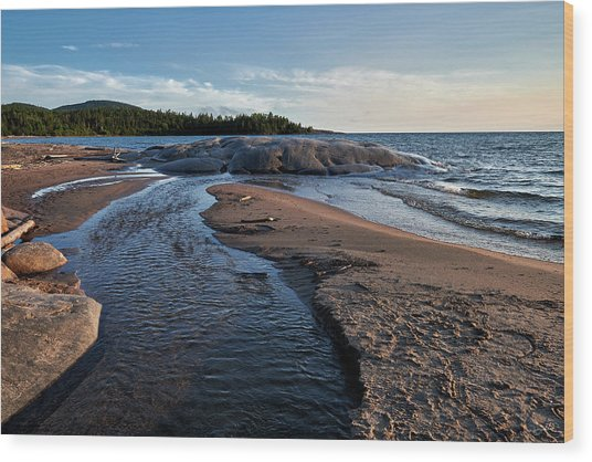 Wood Print featuring the photograph Neys Delta by Doug Gibbons