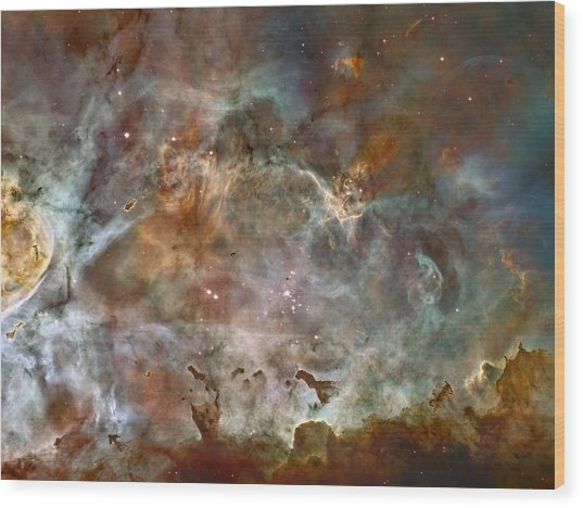 Ngc 3372 Taken By Hubble Space Telescope Wood Print