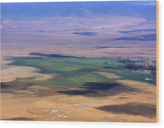 Ngorongoro Crater Tanzania Wood Print