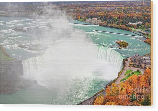 Niagara Falls Autumn Wood Print