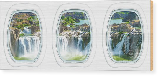 Niagara Falls Porthole Windows Wood Print