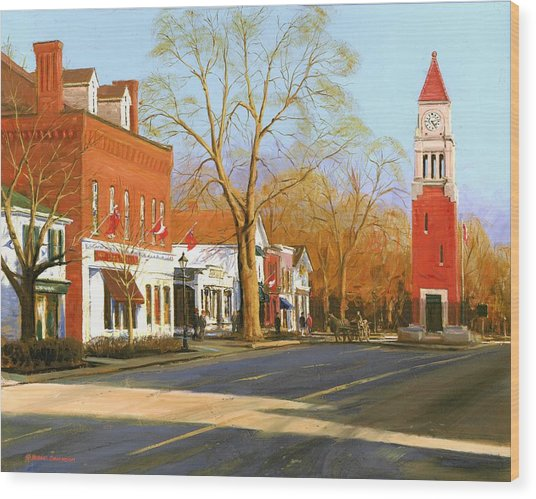 Niagara On The Lake Wood Print by Michael Swanson
