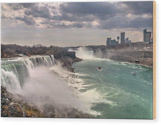 Niagra Waterfalls Wood Print