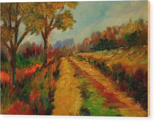 Nice Pathway Wood Print by Constantinos Charalampopoulos