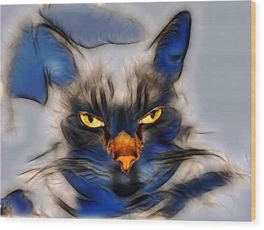 Nice Pussy Cat Wood Print