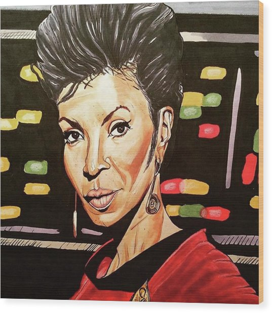 Uhura  Wood Print by Russell Boyle