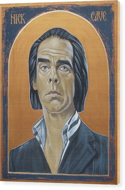 Nick Cave 3 Wood Print by Jovana Kolic