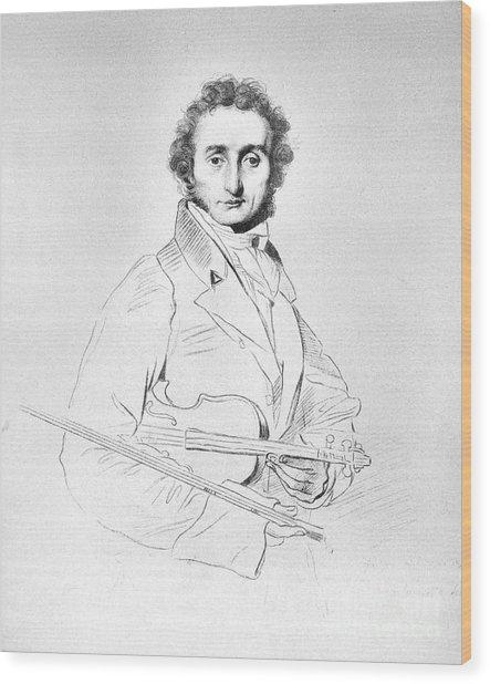 Nicolo Paganini (1782-1840) Wood Print