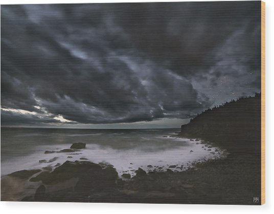 Night At Boulder Beach Wood Print
