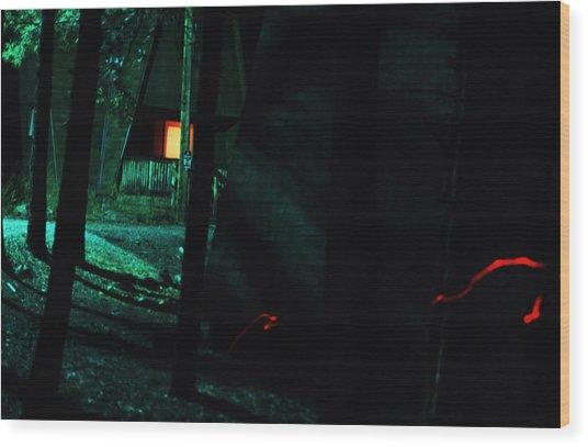 Night Aura Wood Print