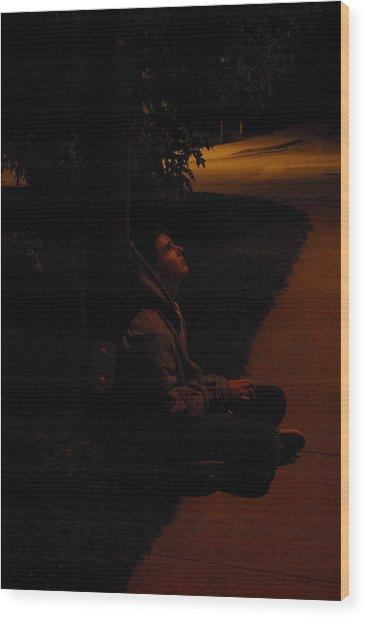 Night Boy Wood Print