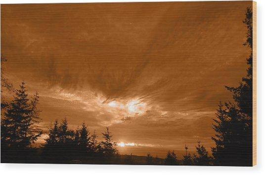 Night Clouds II Wood Print
