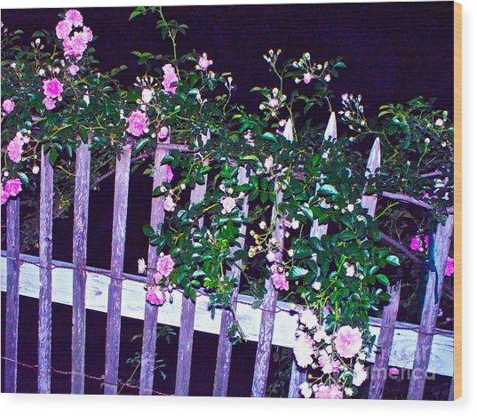 Night Gate Wood Print by Chuck Taylor