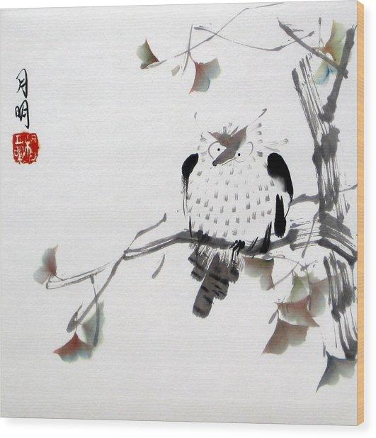 Night Hunter Wood Print by Ming Yeung