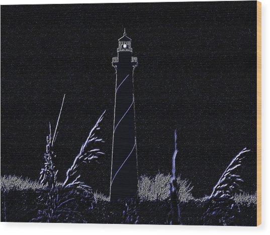 Night Light - Digital Art Wood Print