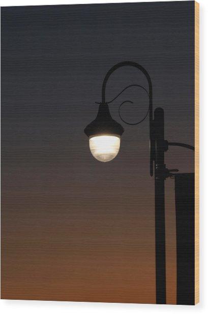 Night Light Wood Print by Stan Wojtaszek