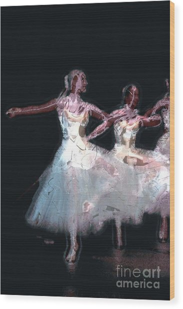 Night Of The Ballet Wood Print