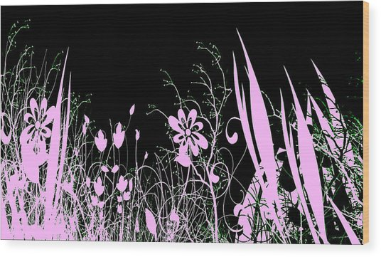 Night Of The Flowers Wood Print by Evelyn Patrick