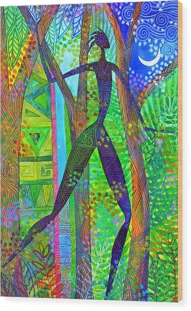 Night Quest Wood Print by Jennifer Baird