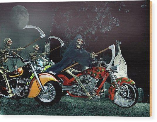 Night Riders Wood Print
