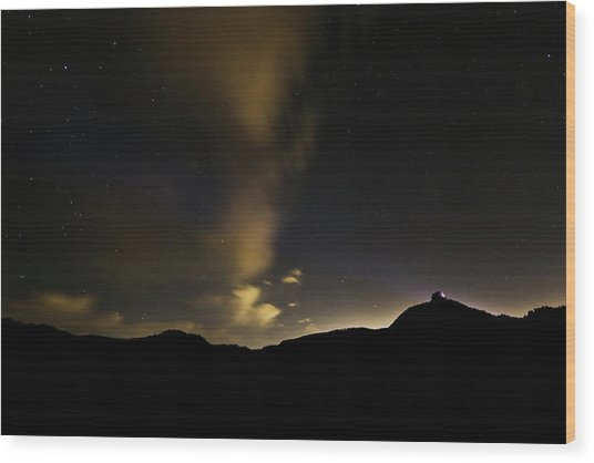 Night Time At Palo Duro Canyon State Park - Texas Wood Print
